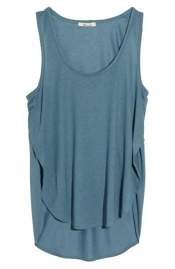 Women's Madewell Strum Crossover Tank, Size - Beige