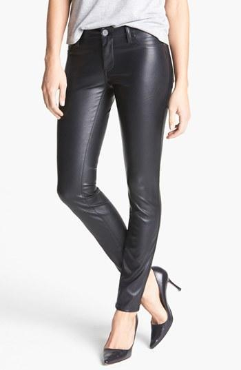 Blanknyc Faux Leather Skinny Pants Womens Blacked Out