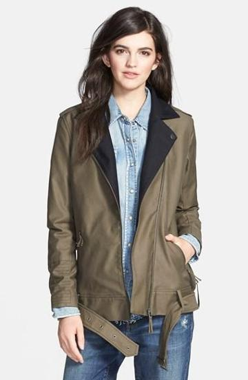 Treasure & Bond Military Moto Jacket