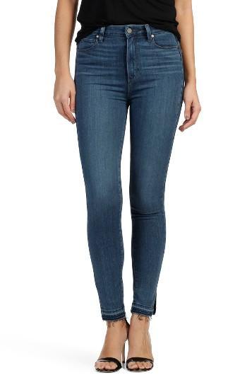 Women's Paige Transcend - Margot Released Hem High Rise Ultra Skinny Jeans - Blue