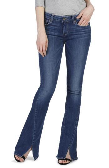 Women's Paige Lou Lou Twisted Seam Flare Jeans - Blue