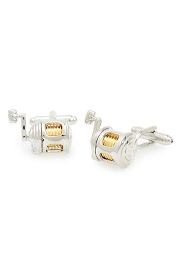 Men's Link Up 'fishing Reel' Cuff Links