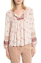 Women's Joie Joleta Silk Peasant Top - Ivory