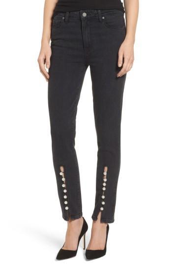 Women's Paige Transcend Vintage - Julia High Waist Straight Leg Jeans - Blue