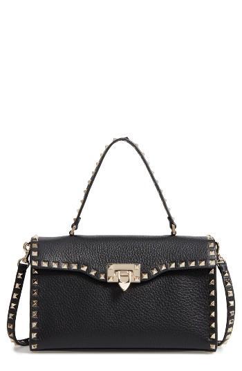 Valentino Rockstud Leather Top Handle Shoulder Bag -