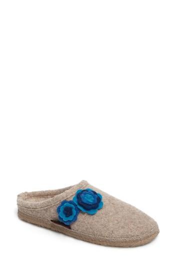 Women's Giesswein Georgie Indoor Boiled Wool Slipper Eu - Beige