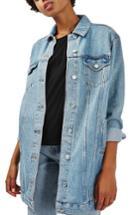 Women's Topshop Longline Denim Jacket