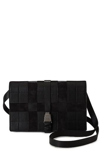 Akris Alice Leather Crossbody Bag - Black