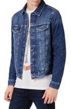 Men's Topman Washed Denim Jacket - Blue