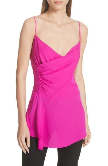 Women's Grey Jason Wu Asymmetrical Silk Crepe Tank - Pink