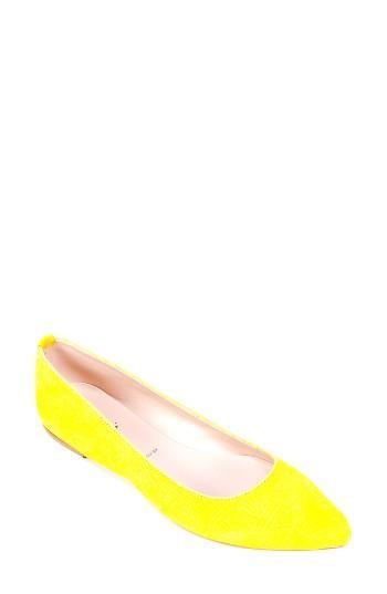Women's Summit 'kamora' Pointy Toe Flat Eu - Yellow