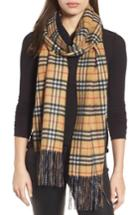 Women's Burberry Reversible Vintage Check Cashmere Scarf