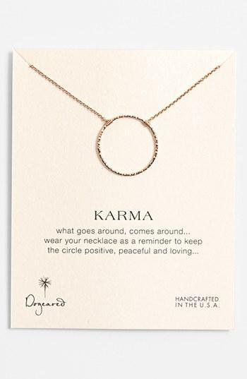 Dogeared 'karma Sparkle' Boxed Pendant Necklace Rose