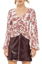 Women's Topshop Sketchy Floral Blouse Us (fits Like 0) - Ivory