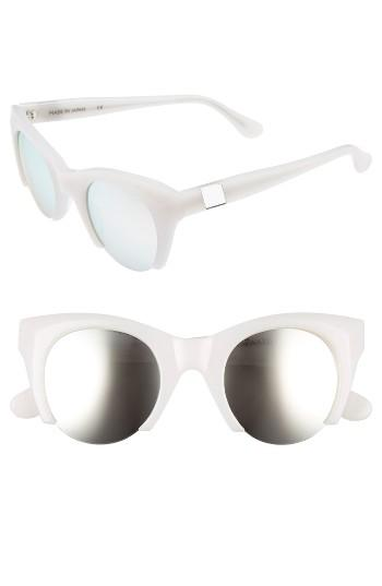 Women's Westward Leaning Lost On Paradise 47mm Sunglasses - Marshmallow/ X3 Silver