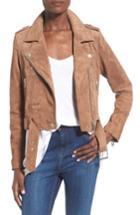 Women's Blanknyc Morning Suede Moto Jacket - Brown