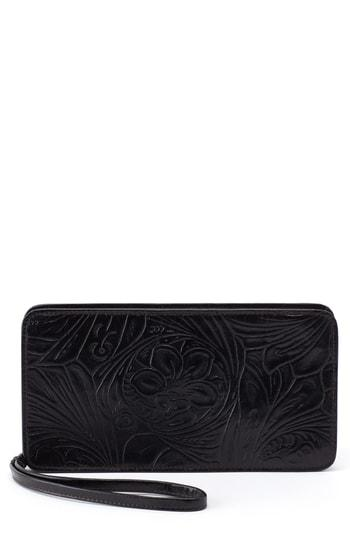 Women's Hobo Avis Leather Wallet - Black