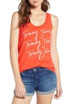 Women's Tommy Jeans Summer Script Logo Tank Top, Size - Red