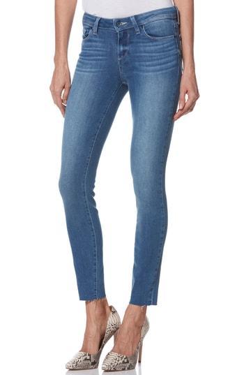 Women's Paige Transcend Vintage - Verdugo Raw Hem Ankle Skinny Jeans