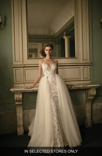 Women's Berta Beaded Lace & Tulle Ballgown, Size - Ivory