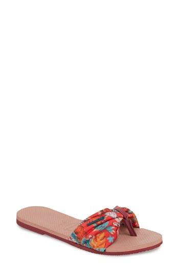 Women's Havaianas You Saint Tropez Sandal /36 Br - Pink