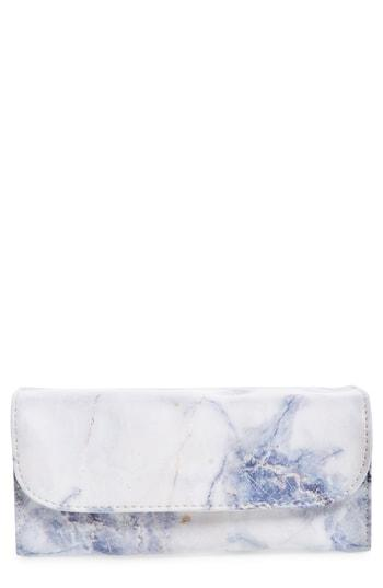 Violet Ray New York Multi Pouch Makeup Roll Bag, Size - Blue Marble