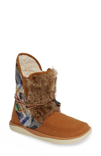 Women's Sanuk Tripper Flurry Faux Fur Boot M - Brown