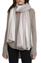 Women's White + Warren Travel Intarsia Cashmere Wrap, Size - Beige
