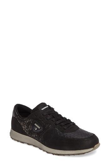 Women's Ecco Retro Sneaker -5.5us / 36eu - Black
