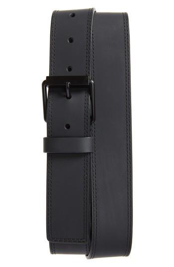 Men's Ck Calvin Klein Rubberized Leather Belt - Ultimate Black