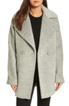 Women's Trina Turk Nancy Double Breasted Coat - Grey