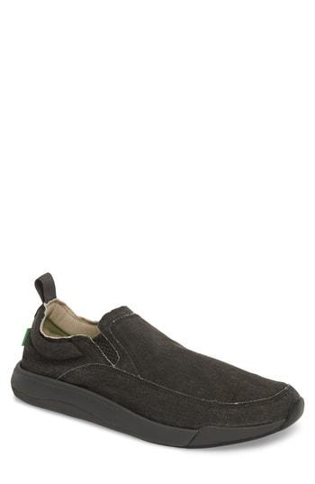 Men's Sanuk Chiba Quest Slip-on Sneaker M - Black