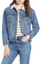 Women's Levi's Ex-boyfriend Fleece Lined Denim Jacket - Blue