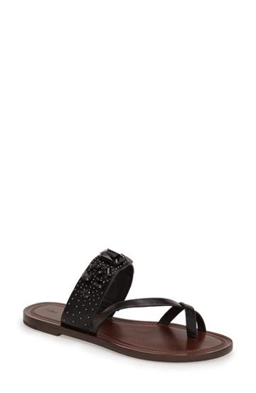 Women's Via Spiga 'gwenda' Stud & Crystal Toe Loop Sandal, Size
