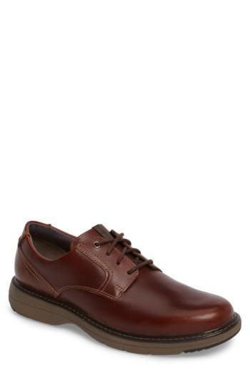 Men's Clarks Cushox Plain Toe Derby .5 M - Brown