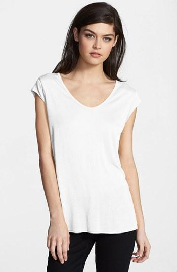 Trouve Cap Sleeve Tee White