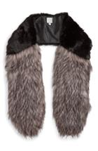 Women's Halogen Faux Fur Stole, Size - Black