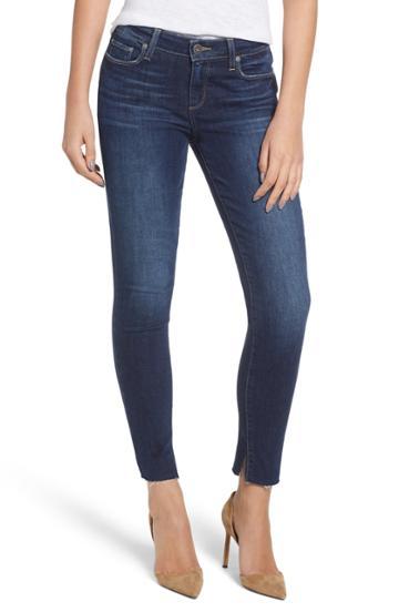 Petite Women's Paige Transcend Vintage - Verdugo Frayed Ankle Skinny Jeans