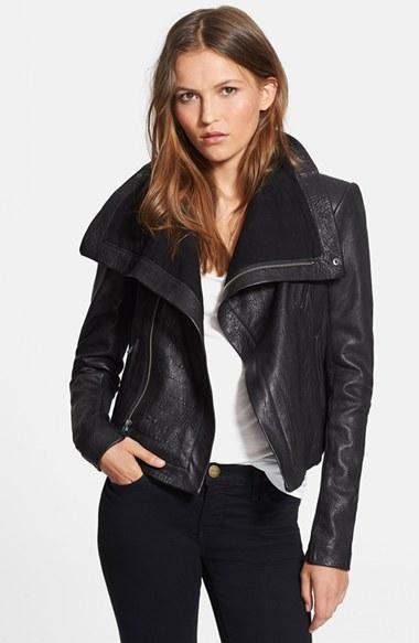Women's Veda 'max Classic' Leather Jacket
