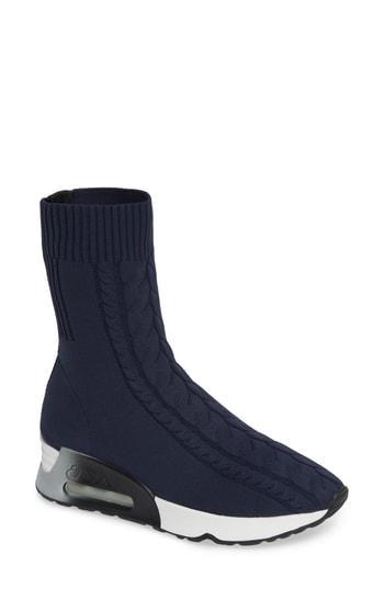 Women's Ash Liv Knit Sneaker Bootie Eu - Blue