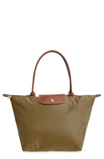 Longchamp 'large Le Pliage' Tote - Orange