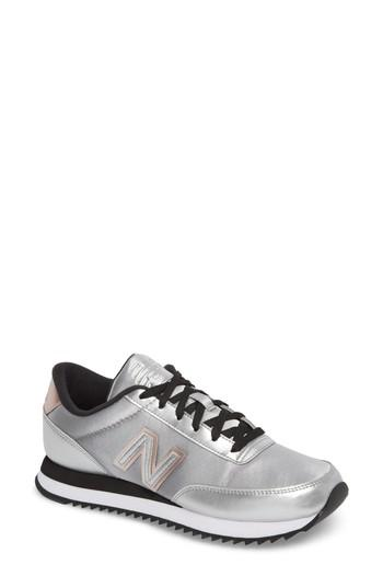 Women's New Balance 501 Ripple Sneaker .5 B - Blue