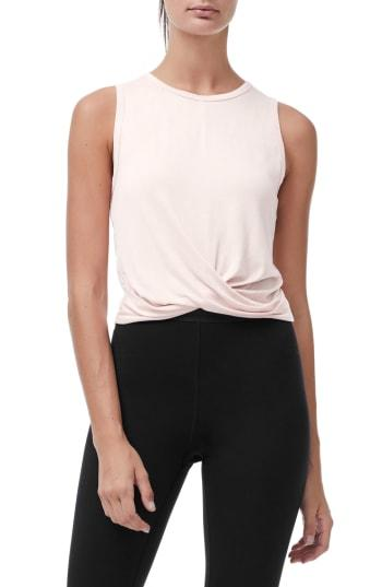 Women's Good American Knotted Tank Top - Coral