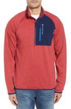 Men's Vineyard Vines Tech Colorblock Quarter Zip Pullover - Red