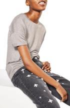 Women's Topshop Drop Shoulder Tee Us (fits Like 0) - Grey