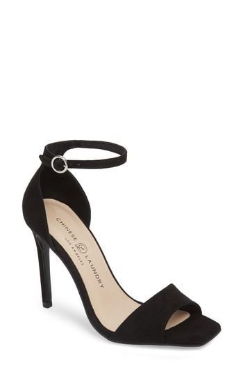 Women's Chinese Laundry Julien Ankle Strap Sandal M - Black