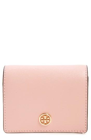 Women's Tory Burch Parker Foldable Mini Leather Wallet - Pink