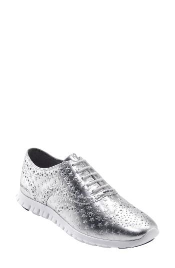 Women's Cole Haan 'zerogrand' Perforated Wingtip B - White