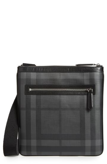 Men's Burberry Beckley Small Faux Leather Travel Bag -