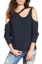Women's Lna Leon Cutout Sweater - Black